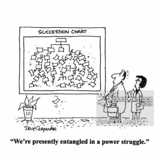 'We're presently entangled in a power struggle.'