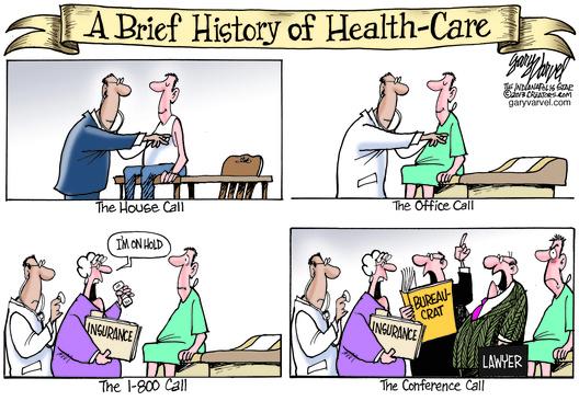 Cartoon – A Brief History of Health Care | HENRY KOTULA