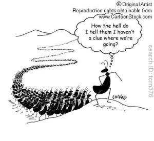 Cartoon Leadership Dilemma