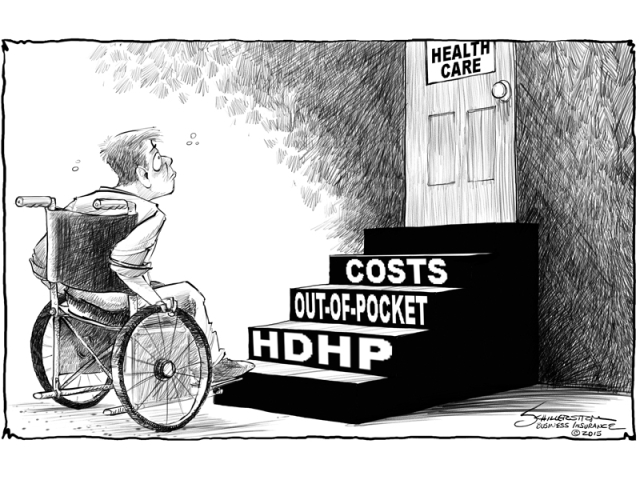 Image result for cartoon high deductible health plans
