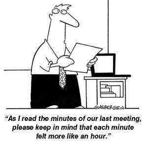 cartoon reading meeting minutes henry kotula