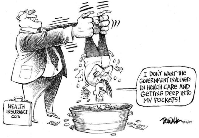 Image result for cartoon lack of health insurance
