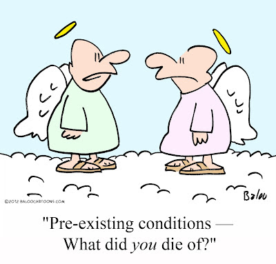 Image result for cartoon pre existing conditions