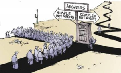 Cartoon – Simple but Wrong vs Complex but Right | HENRY KOTULA
