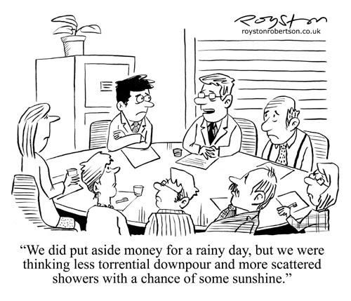 Royston Cartoons: Credit crunch/recession cartoon