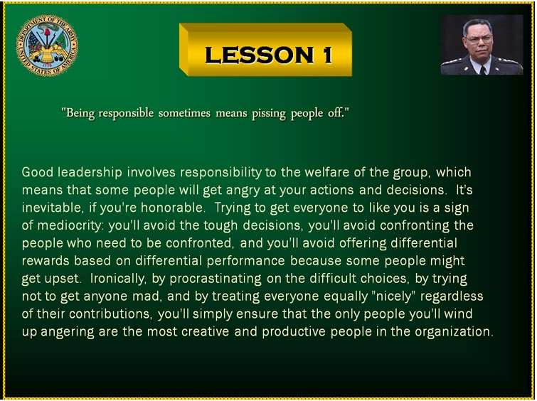 The C4Leader Blog: Colin Powell's Lessons in Leadership - 1
